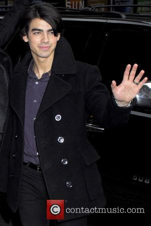 Joe Jonas of the Jonas Brothers outside the Ed Sullivan Theater for 'The Late Show with David Letterman' New York...