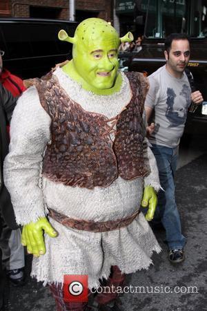 Shrek and David Letterman