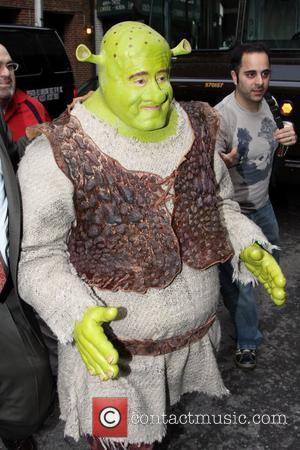 Shrek outside the Ed Sullivan Theater for the 'Late Show With David Letterman' New York City, USA - 22.04.09