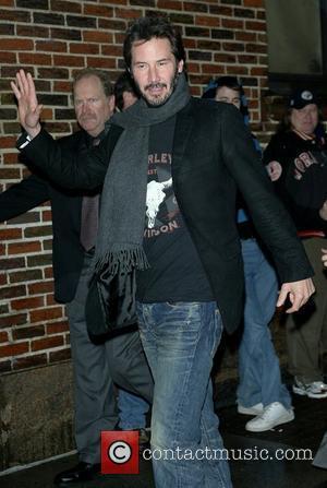 Keanu Reeves and David Letterman