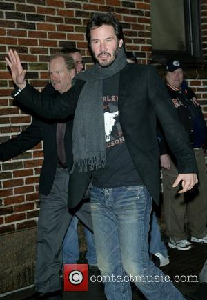 Keanu Reeves, David Letterman, Ed Sullivan Theatre