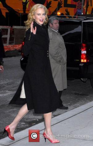 Nicole Kidman and David Letterman