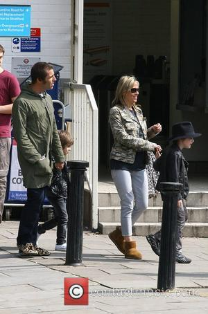 Liam Gallagher and Nicole Appleton out in London with their children London, England - 18.04.09