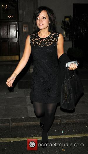 Lily Allen  leaving Scotts restaurant London, England - 08.10.08