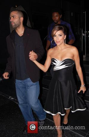 Tony Parker and Eva Longoria leave Katsuya restaurant in Hollywood Los Angeles, California - 01.05.09