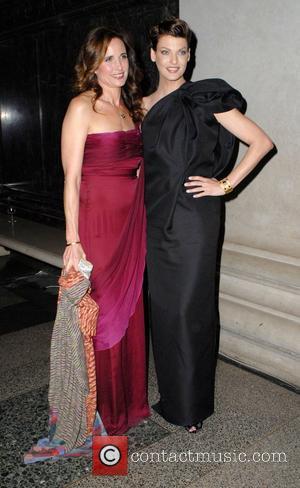 Andie Macdowell and Linda Evangelista