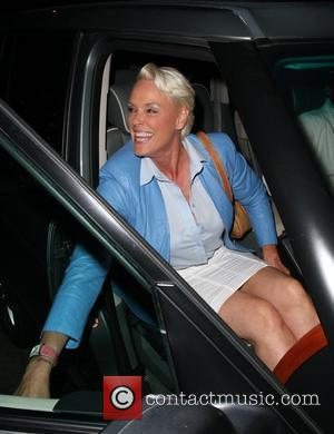 Brigitte Nielsen leaving Madeo restaurant after having dinner with her husband Los Angeles, California - 10.05.09