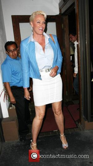 Brigitte Nielsen leaving Madeo restaurant after having dinner with her husband Los Angeles, California - 10.05.09