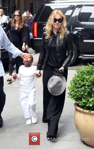 Madonna and son David Banda arriving at the Kabbalah Center New York City, USA - 09.05.09