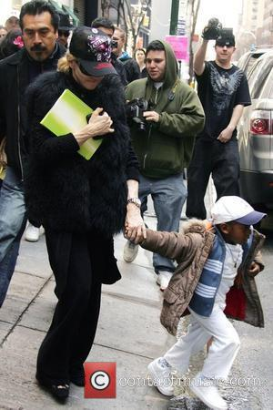 Madonna with her adopted son, David Banda, out and about in Manhattan New York City, USA - 28.03.09