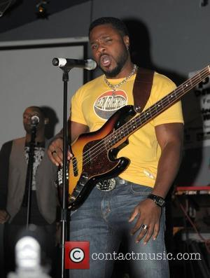 Malcolm-Jamal Warner performing live with Jody Hill and Deep Fried Funk band during the deep Fried Soul Concert at 88's...