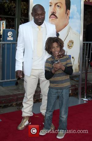 Jimmy Jean-Louis and son Devi Los Angeles Premiere of 'Paul Blart: Mall Cop' held at Mann Village Theatre - arrivals...