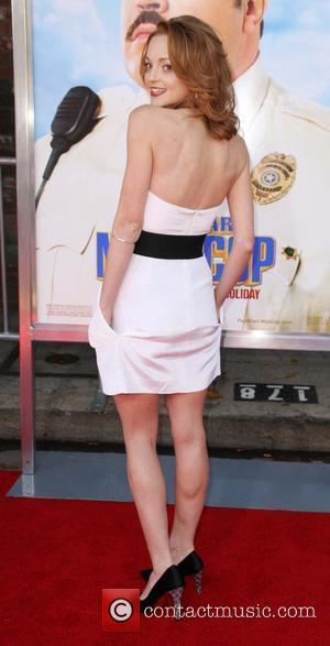 Jayma Mays Los Angeles Premiere of 'Paul Blart: Mall Cop' held at Mann Village Theatre - arrivals Los Angeles, California...