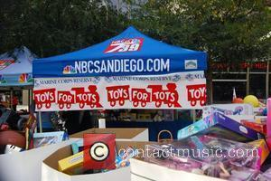 'Deal Or No Deal' host Howie Mandel helps out at Toys For Tots Campaign/KNSD's annual Toy Drive at NBC studios...
