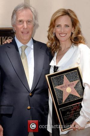 Henry Winkler and Marlee Matlin  Marlee Matlin honored with a Star on the Hollywood Walk of Fame Los Angeles,...