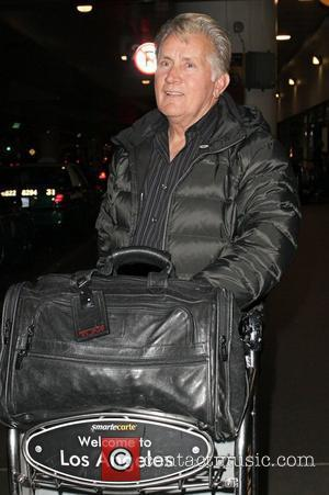 Martin Sheen and his son Emilio Estevez arriving at LAX on a flight from London	  Los Angeles, California -...
