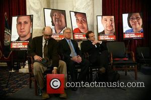 Richard Schiff, Martin Sheen and Bradley Whitford 'Faces of the Employee Free Choice Act' campaign held at the Russell Senate...