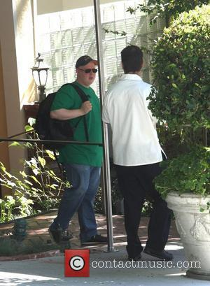 Matt Lucas seen getting into a taxi outside his hotel in Hollywood Los Angeles, California - 24.10.08