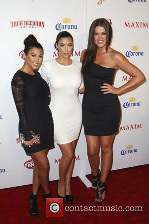 Kourtney Kardashian, Kim Kardashian and Khloe Kardashian Maxim's 10th Annual Hot 100 Party at The Barker Hanger - Arrivals Los...
