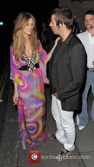 Rosie Huntington-Whiteley celebrates her 22nd birthday with Liam Gallagher at Met Bar London, England - 25.04.09