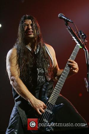 Robert Trujillo Metallica performing live in concert at the Allstate Arena as part of their 'Death Magnetic Tour' Chicago, Illinois...