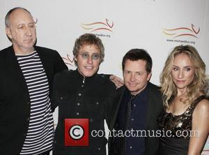 Pete Townshend and Roger Daltrey of The Who, Michael J. Fox and Tracy Pollan 'A Funny Thing Happened On The...