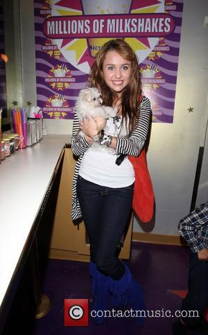 Miley Cyrus at Millions of Milkshakes to name a new milkshake after herself Los Angeles, California - 14.10.08