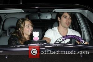 Miley Cyrus and Boyfriend Justin Gaston Leaving Koi Restaurant In West Hollywood
