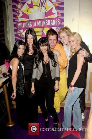 Kourtney Kardashian, Kim Kardashian, Perez Hilton and Spencer Pratt