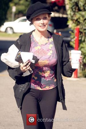 Morgan Fairchild leaving Le Pain Quotidien with some breakfast to go Brentwood, California - 01.12.08