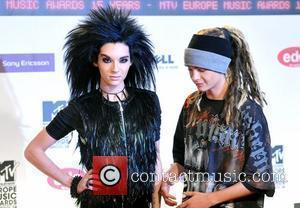 Bill Kaulitz and Tim Kaulitz of Tokio Hotel MTV Europe Music Awards 2008 held at the Echo Arena - Arrivals...