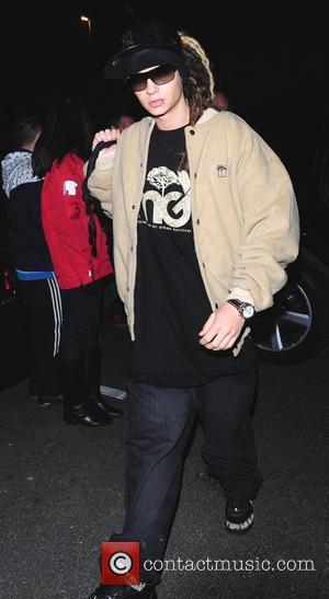Bill Kaulitz of German band Tokio Hotel arrives at his hotel ahead of the MTV Europe Awards Liverpool, England -...