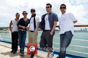 Danny Wood, Joey McIntyre, Donnie Wahlberg, Jordan Knight and Jonathan Knight  New Kids On The Block pose at the...