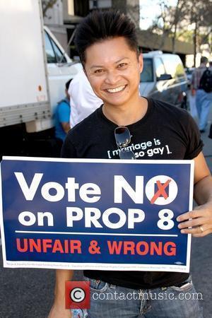 Alec Mapa No on Prop 8 Protest Rally held at Los Angeles City Hall Road store Los Angeles, California -...