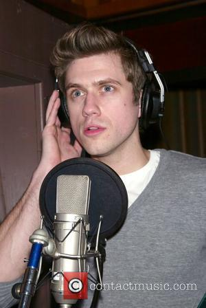 Aaron Tveit Recording session for the musical 'Next To Normal' held at Avantar Recording Studios New York City, USA -...