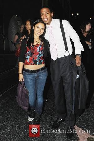 Nick Cannon and Kristina Debarge Pose For Pictures Outside Katsuya In Hollywood