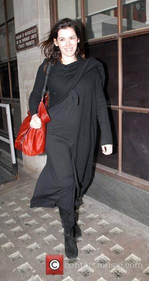 Nigella Lawson seen leaving the Radio 1 studios. London, England - 14.12.08