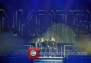 Jordan Knight, Jonathan Knight, Joey McIntyre, Donnie Wahlberg and Danny Wood New Kids On The Block live at the O2...