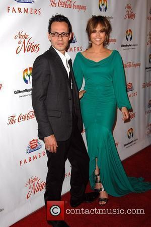 Marc Anthony and wife actress Jennifer Lopez The 3rd Noche de Ninos gala held at rhe Beverly Hilton hotel Los...
