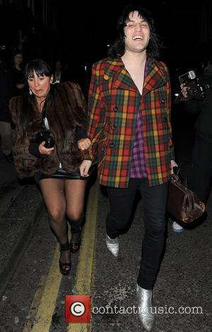 Noel Fielding leaving The Groucho private members club with Fran Cutler London, England - 12.03.09