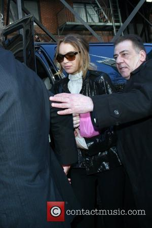 Unwell Lohan And Ronson Axe Appearance