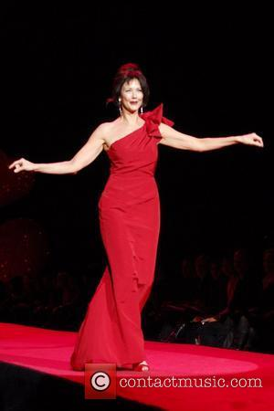 Lynda Carter wearing Carolina Herrera Mercedes-Benz IMG New York Fashion Week Fall 2009 - The Heart Truth's Red Dress Collection...