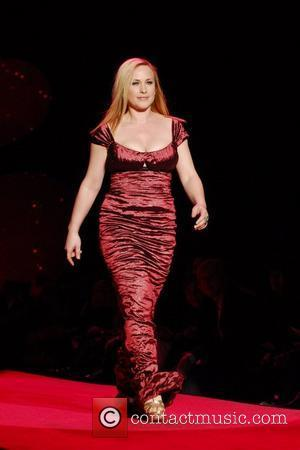 Patricia Arquette wearing Nicole Miller Mercedes-Benz IMG New York Fashion Week Fall 2009 - The Heart Truth's Red Dress Collection...