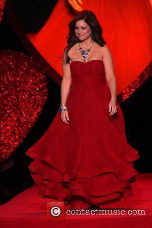 Valerie Bertinelli wearing Christian Siriano Mercedes-Benz IMG New York Fashion Week Fall 2009 - The Heart Truth's Red Dress Collection...
