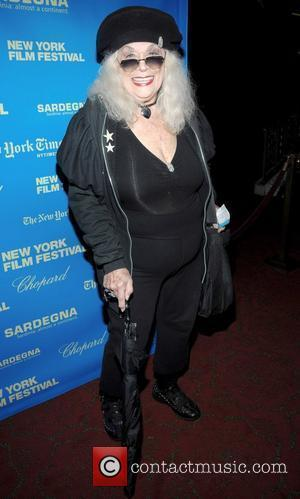 Sylvia Miles at the Premiere of 'Happy Go Lucky' during the 46th New York Film Festival at the Ziegfield Theater...