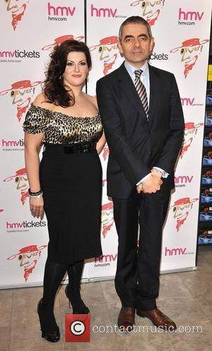 Rowan Atkinson and Jodie Prenger  Oliver!: 2009 Live London Cast Recording signing session at HMV's Covent Garden store London,...