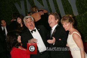 Jay Leno and his wife Mavis Nicholson with Martin Short and his wife Nancy Dolman The 81st Annual Academy Awards...