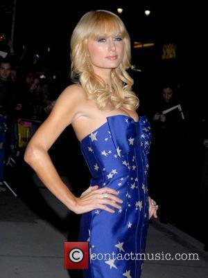 Paris Hilton and David Letterman
