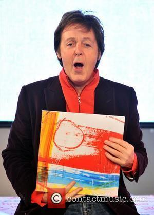 Paul McCartney signs his new album Electric Arguments at HMV Oxford Street London, England - 21.12.08