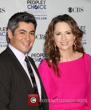 Danny Nucci and Paula Marshall  35th Annual People's Choice Awards at the Shrine Auditorium - Arrivals Los Angeles, California...